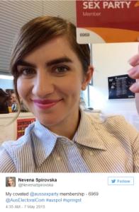 "Kader Personal (""Electorate Officer of Fiona Patten MLC & Secretary of Australian Sex Party"")"